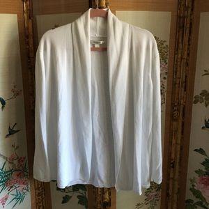 Liz Claiborne white shawl collar cardigan sweater
